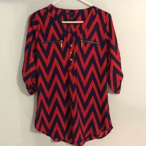 Rue21 Red/Blue Blouse